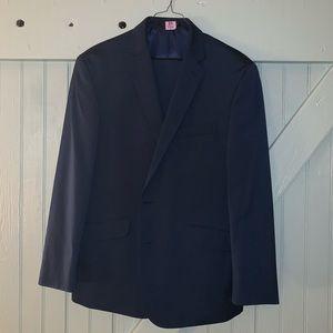 Kenneth Cole Reaction 2 Piece Blue Sharkskin Suit